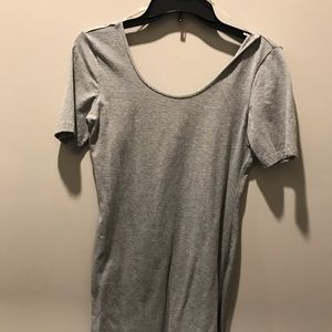 Short tight scoop back grey H&M dress